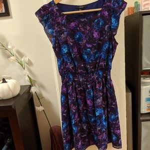 Purple and blue floral dress